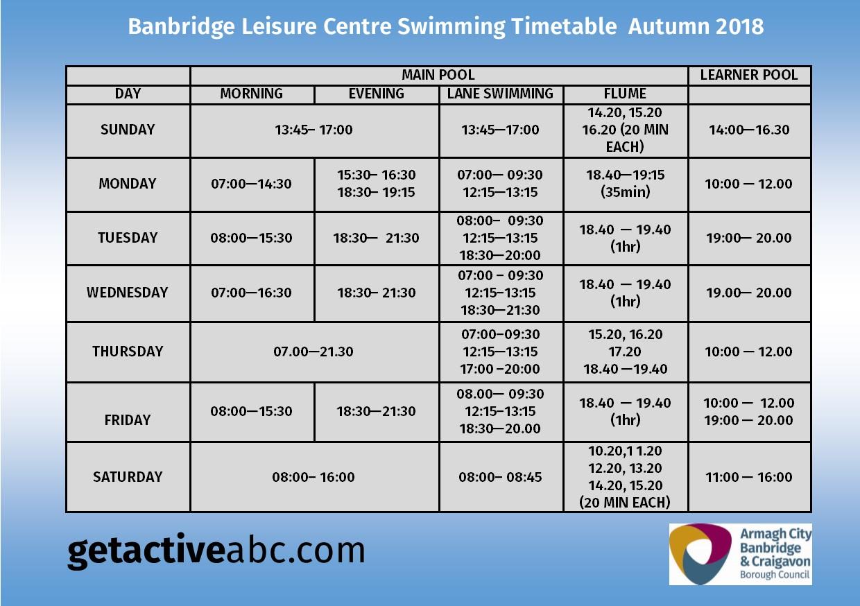 Banbridge Leisure Centre Get Active Abc