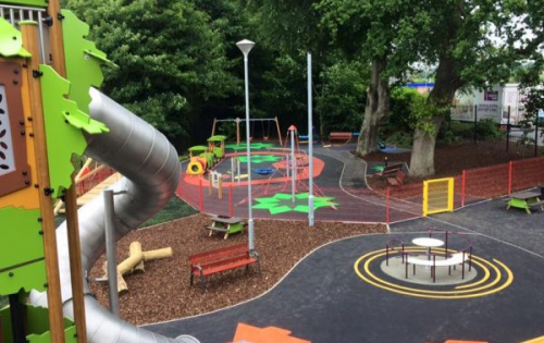 Super safe surfaces for Solitude Play Park