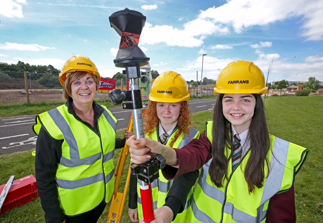 Brigid McGuigan (Farrans) encourages aspiring young engineers