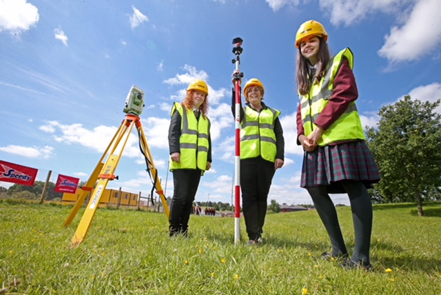 International Women in Engineering Day at Armagh City, Banbridge and Craigavon Borough Council's £35m South Lake Leisure Centre site in Craigavon.