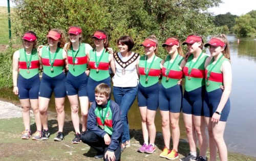 Winning medals on Craigavon Lakes