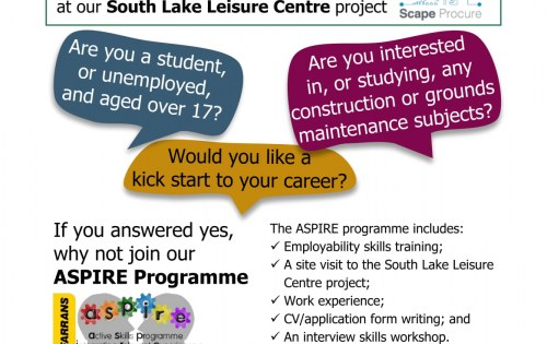 Let Farrans and Armagh City, Banbridge and Craigavon Borough Council help you kick start your career with the ASPIRE programme!