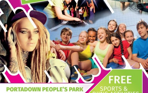 Young people pump it up at Portadown People's Park!