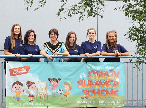 Lord Mayor visits last day of Richhill Recreation Centre's Summer Scheme