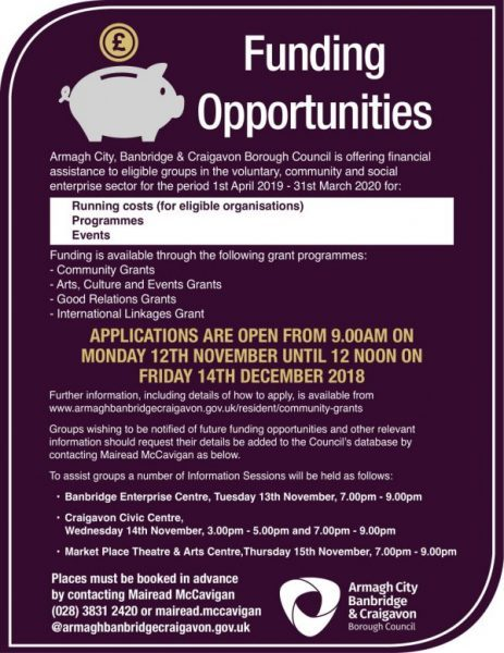 Funding Opportunities for eligible groups in the voluntary, community and social enterprise sectors