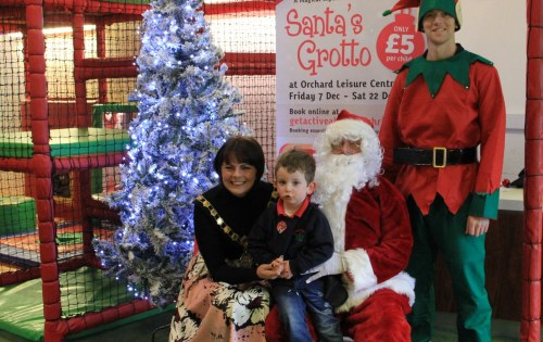 Don't miss Santa's Magical Grotto at the Orchard Leisure Centre
