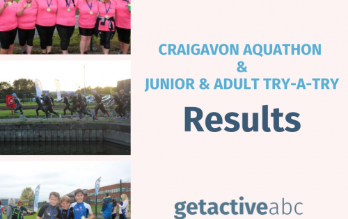 Craigavon Aquathon and Junior & Adult Try-a-Tri results are in!!