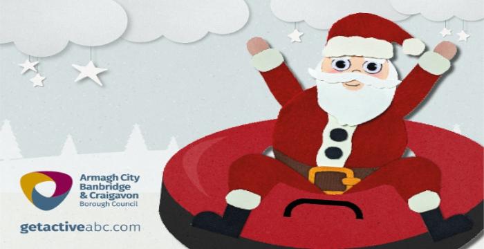 Snowtube with Santa