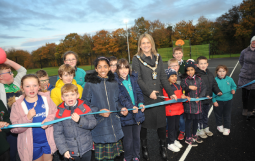 Lord Mayor officially opens Longstone multi-use games area