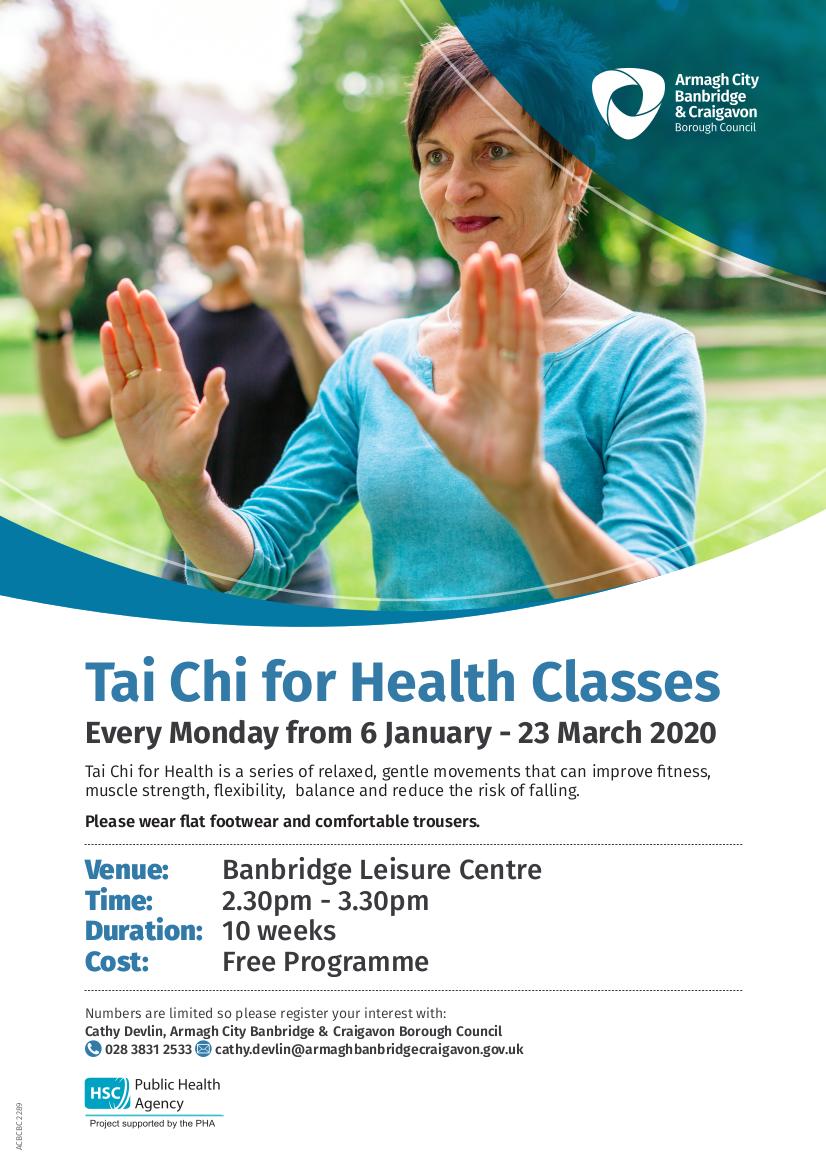 FREE Tai Chi for Health Classes – Banbridge Leisure Centre