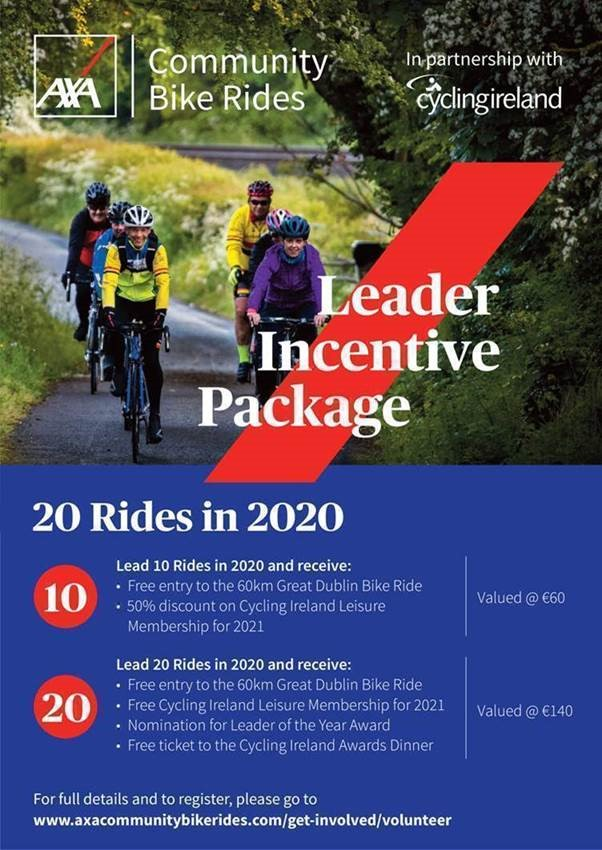 Looking for a reason to become an AXA Community Bike Ride Leader?