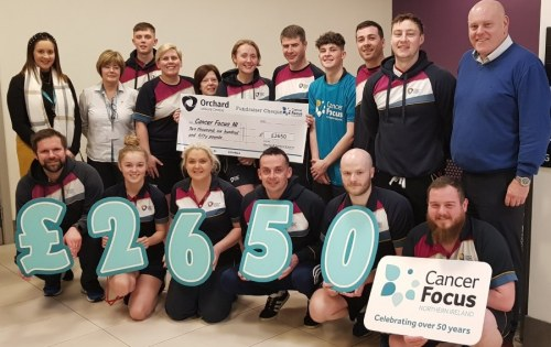 Orchard Leisure Centre staff raise £2650 for Cancer Focus NI in honour of Margaret Farrell